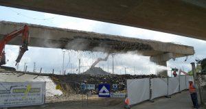 Abbruch Langenfelder Brücke A7